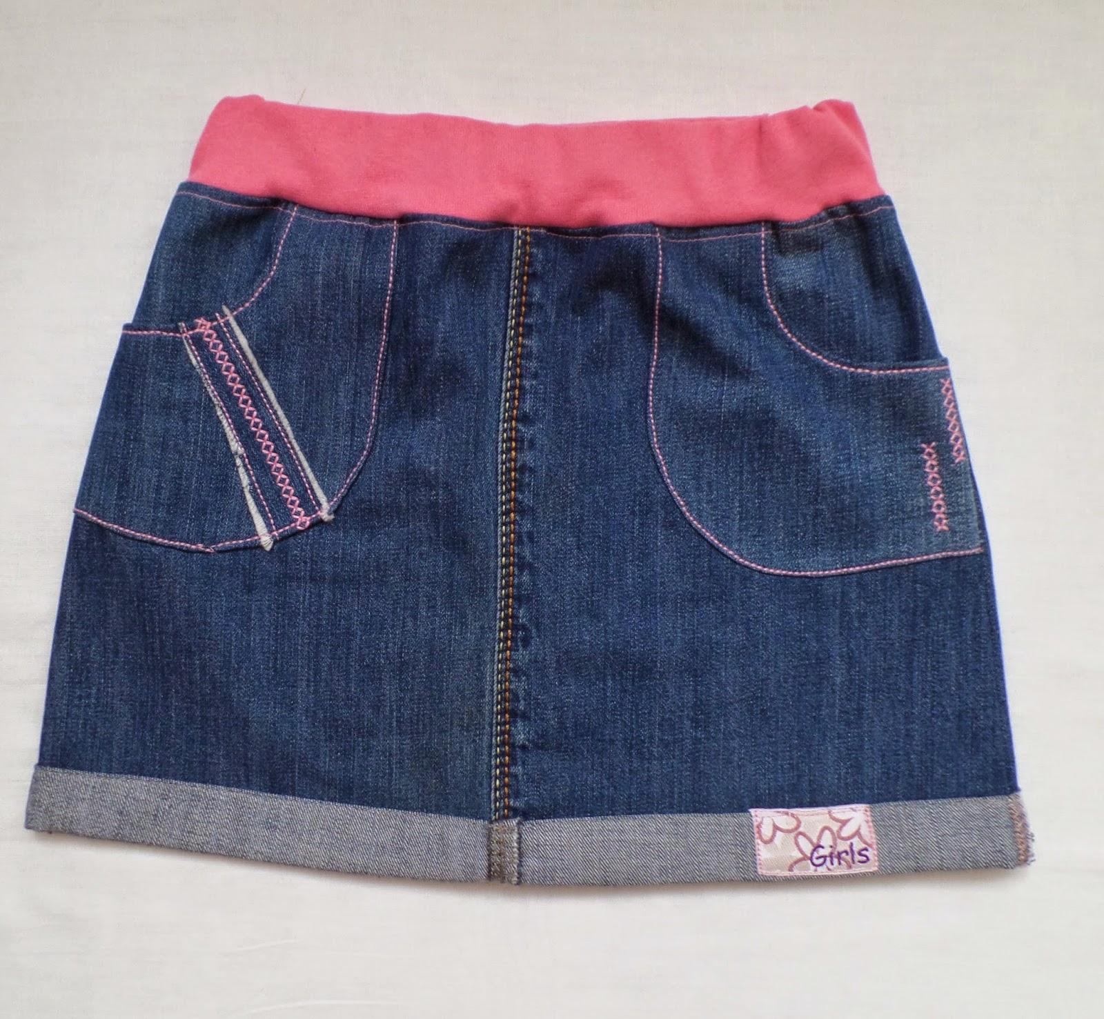 новая юбка из старых джинсов