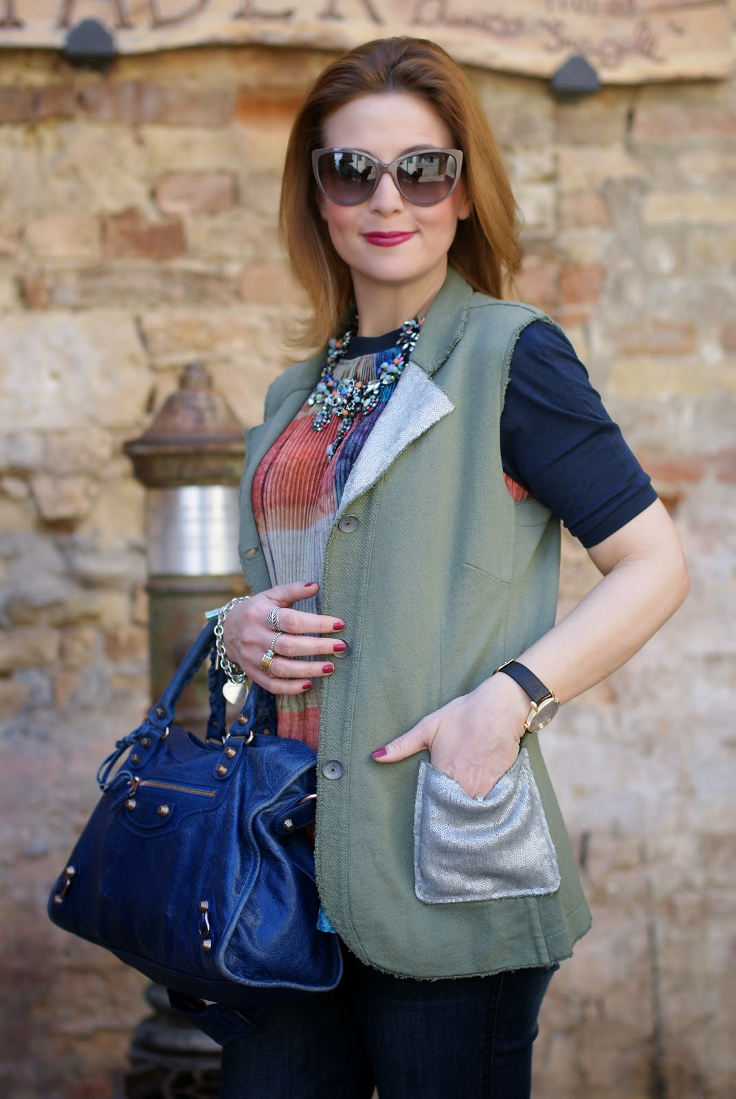 Praio, Praio sleeveless jacket, Balenciaga City, Fashion and Cookies, fashion blogger