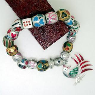 925 Sterling Silver Beaded Charm Bracelet