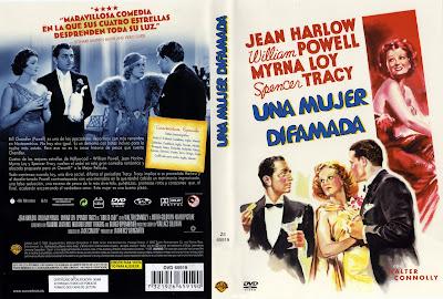 Caratula, cover, Dvd: Una mujer difamada | 1936 | Libeled Lady