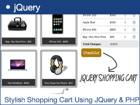 Stylish Shopping Cart Using JQuery & PHP