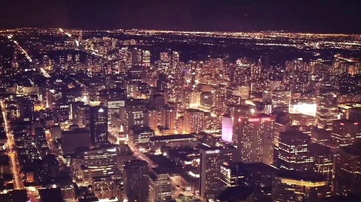 Toronto Skyline Looking Extra Glitzy