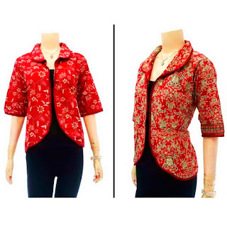 DBT2632 Model Baju Blouse Batik Modern Terbaru 2013
