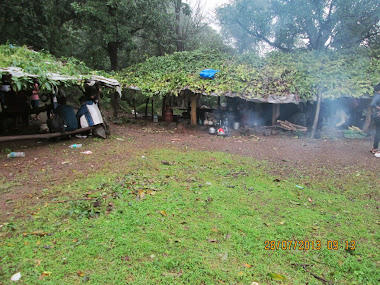 """Plateau Village"", rest-stop for trekkers of  ""Ganesh Ghat"" and ""Shidi Ghat"" route to Bhimashankar"