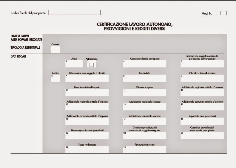 Consulenza gratuita pinerolese - Certificazione lavoro autonomo provvigioni e redditi diversi nel 730 ...