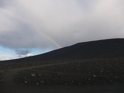 Rainbow over Hverfjall, Iceland