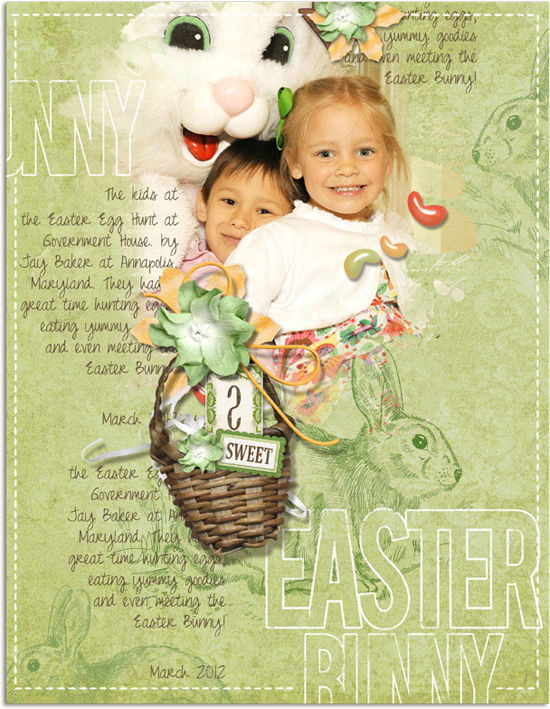 Easter Bunny Digital Scrapbooking Layout