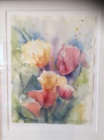 Utställning i målande, keramik & ull