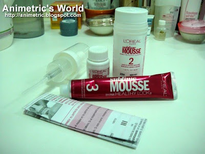 L'oreal Paris Sublime Mousse kit contents