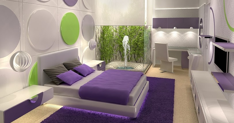 Dormitorio blanco y morado jpg - Decorar dormitorio blanco ...