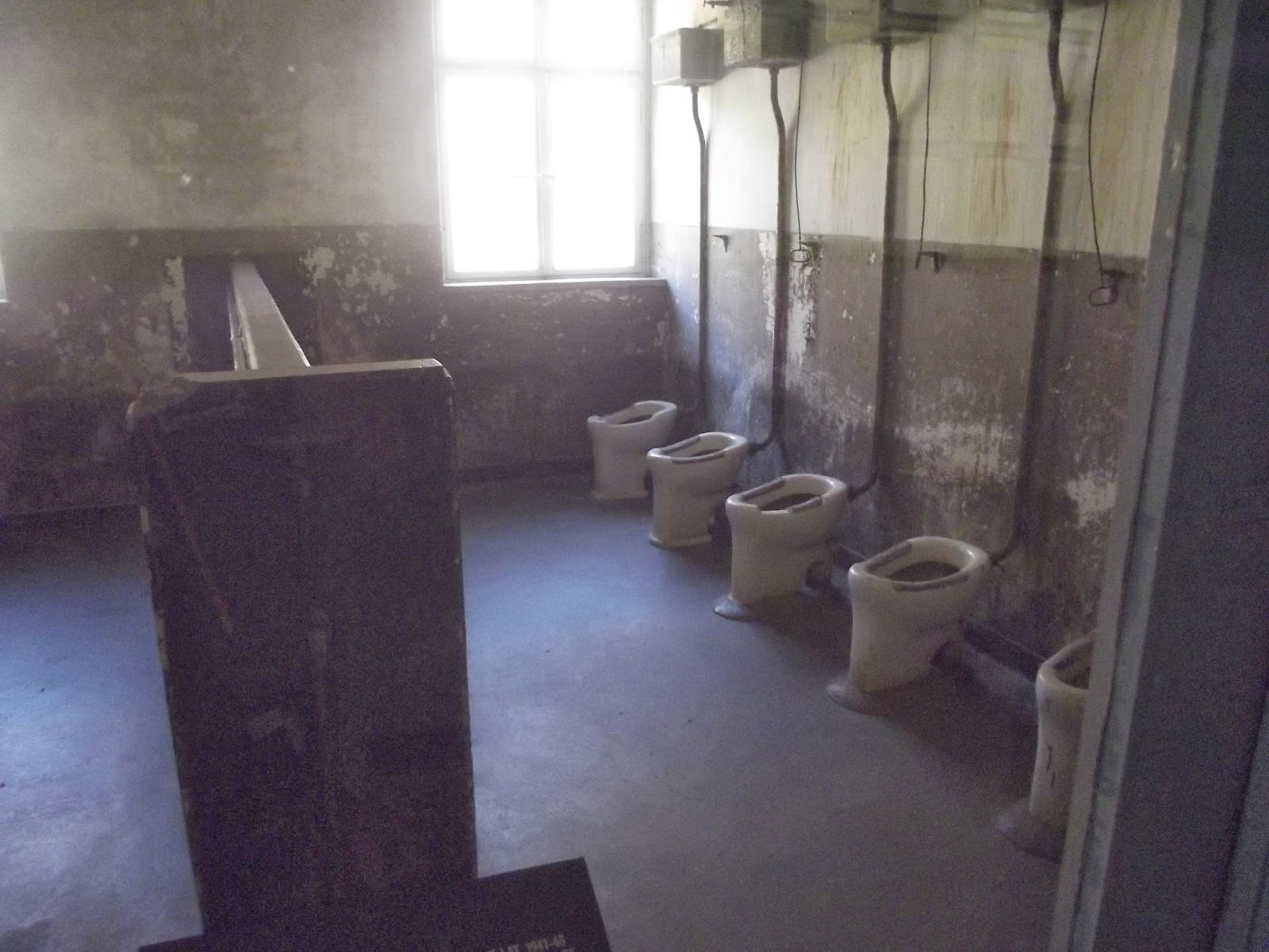 Auschwitz barrack bathroom