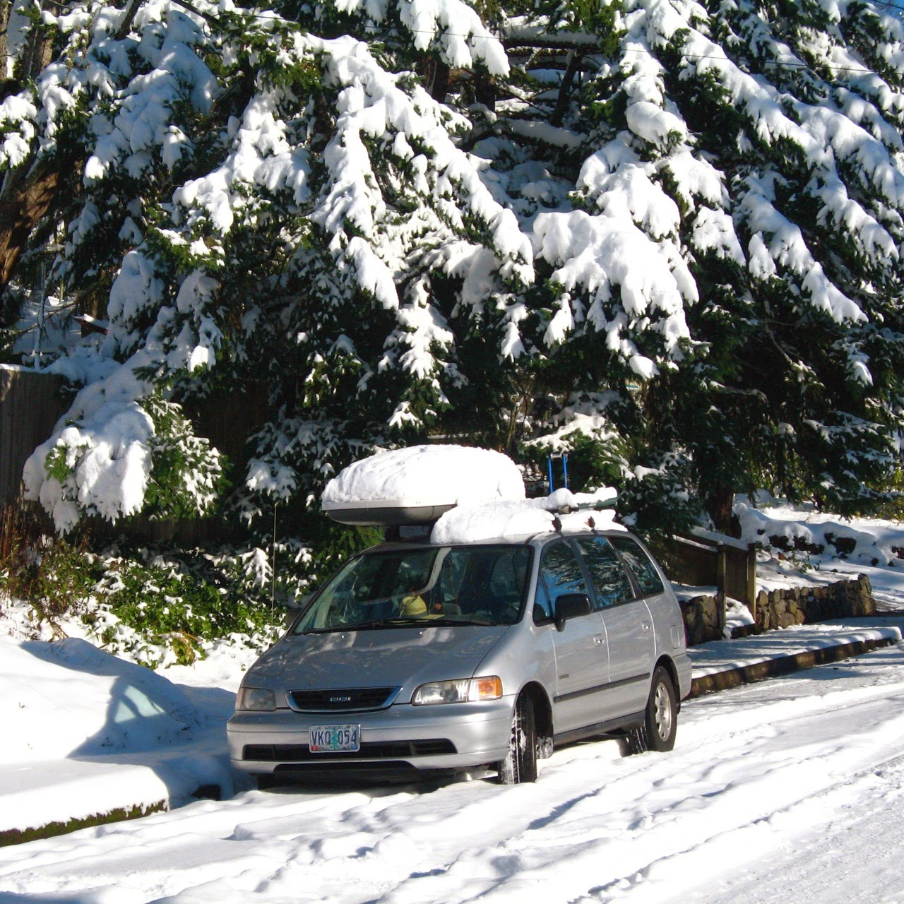 1st gen Honda Odyssey, Eugene OR, December 10 2013 storm, Oregon