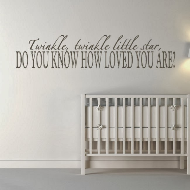 Simple This is one sweet sweet message for your nursery or playroom The Twinkle Twinkle Little Star Wall Quote Art Decal also es in a wide range of colors and