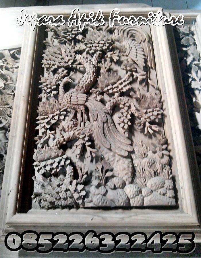 ukiran relief burung khas jepara