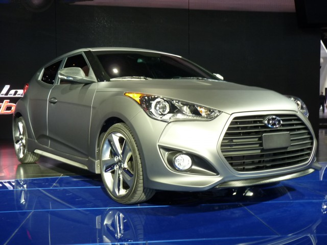The 2013 Hyundai Veloster Turbou0027s Biggest Gimmick    Aside From The  Eponymous Turbo, Which Weu0027ll Get Back To Shortly    Is Its Asymmetrical  Design.