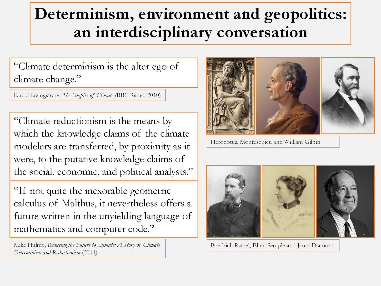 Environmental determinism montesquieu