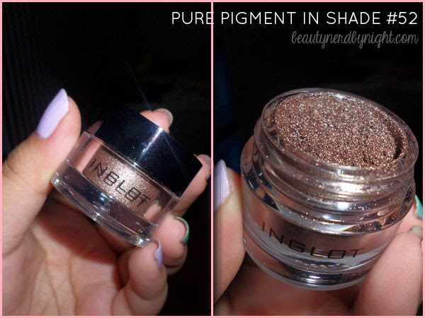 Inglot AMC Pure Pigment Eyeshadow in #52