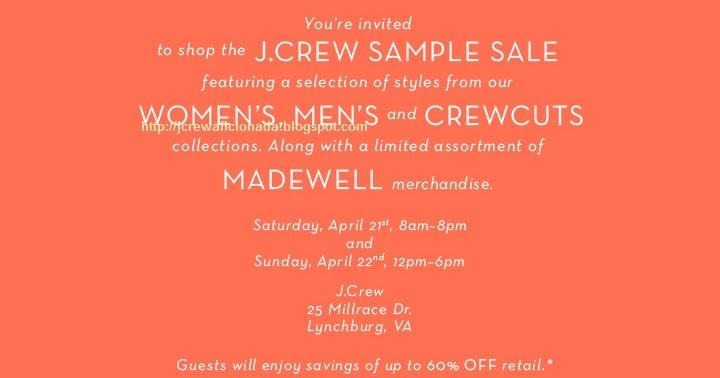 J.Crew Aficionada: Mark Your Calendars: J.Crew Sample Sale ...