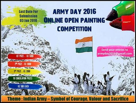 Army Day 2016 Online Open Painting Competition