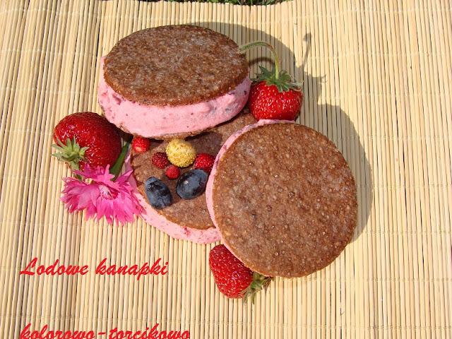 LODOWE kanapki czekoladowo-owocowe