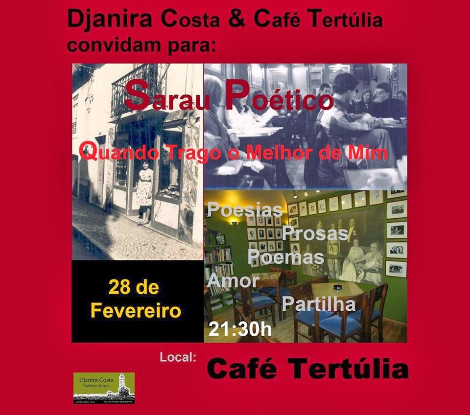 Djanira Costa e Café Tertúlia-Convite