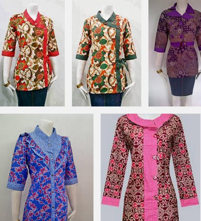 Model Blus Batik Untuk Wanita Gemuk 110