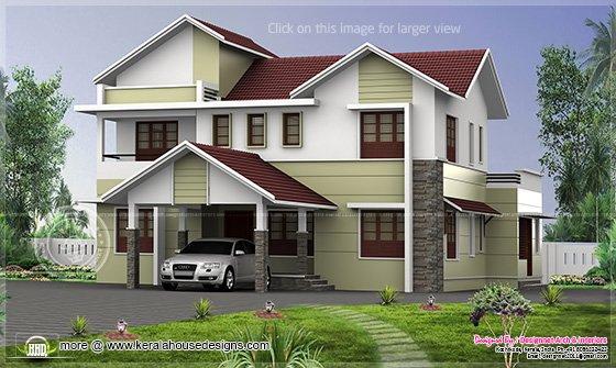 Kerala home exterior