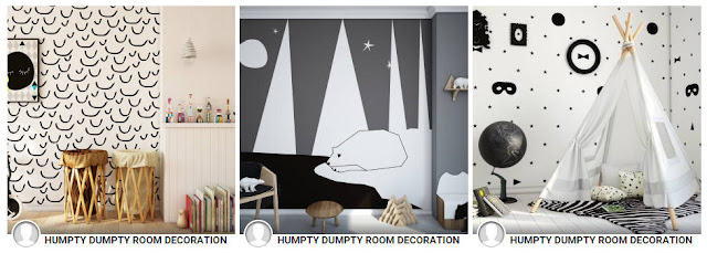 Humpty Dumpty room decoration, homify, kids bedrooms, monochrome