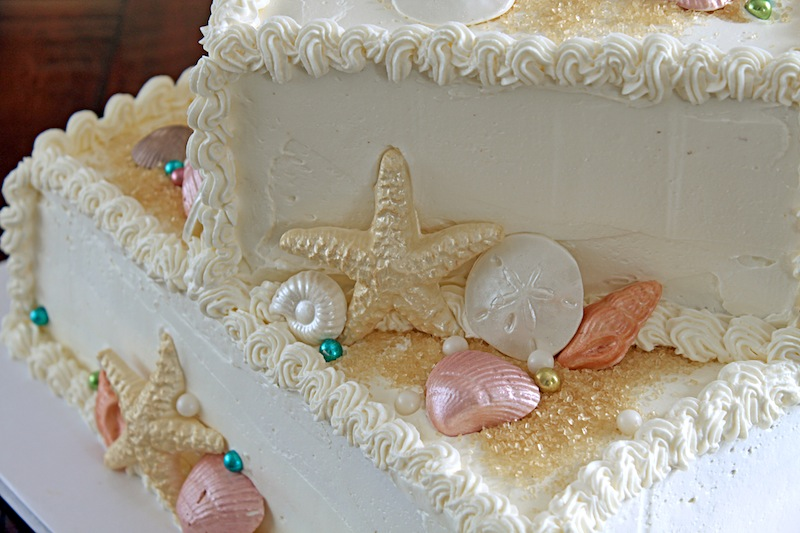 Theres A Newf In My Soup Seashell Cake For A 50th White