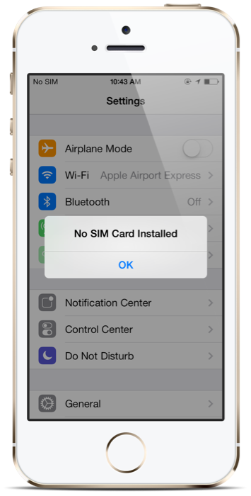 no sim card ios