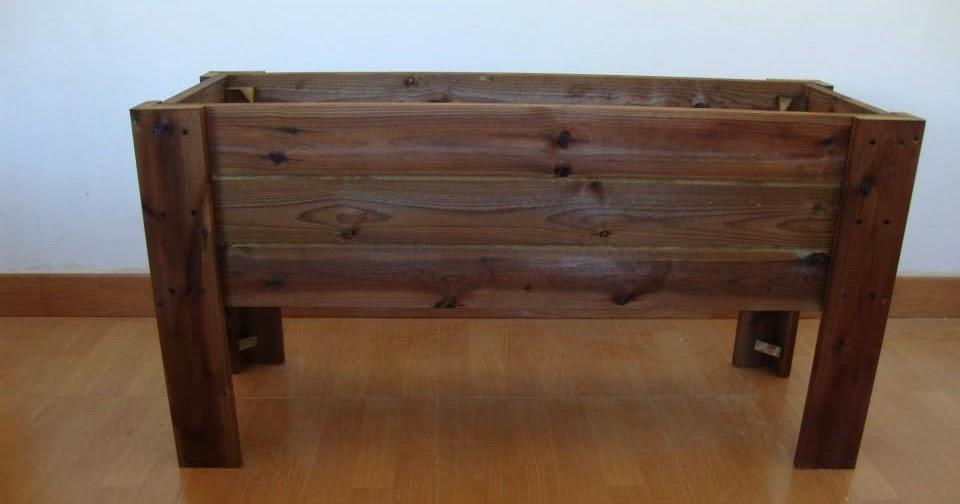 Jardineras de madera jardinera al autoclave con patas - Jardineras baratas online ...