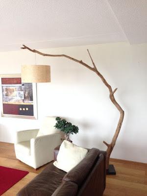 İskandil Doğal Ağaç Dalı Lambader