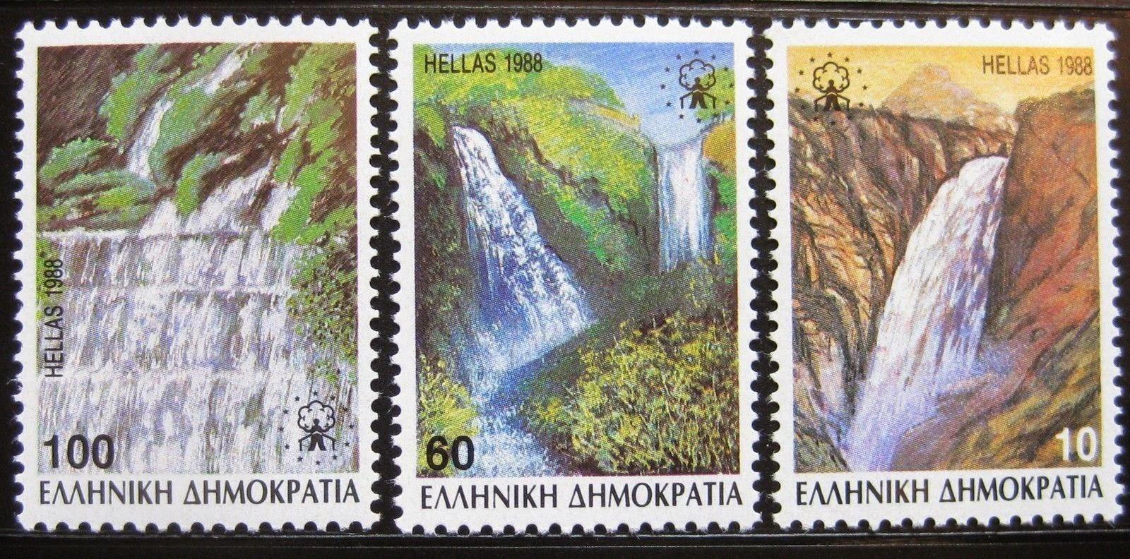 Οι καταρράκτες της Έδεσσας σε σειρά γραμματοσήμων του 1988
