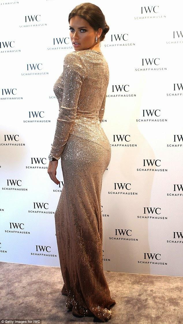 بريق أدريانا ليما يلمع في دبي خلال معرض IWC