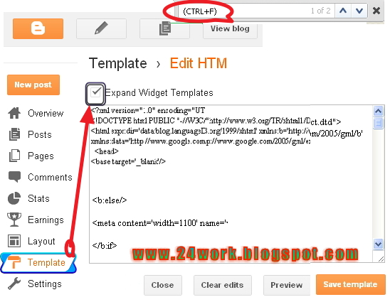 In new layout: Go to Dashboard - Template - Edit Template HTML - Expand Widget Templates