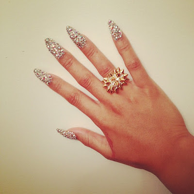blac chyna treasure nails