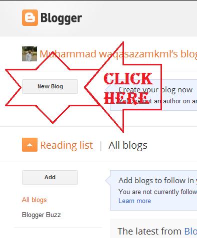how to create blog address