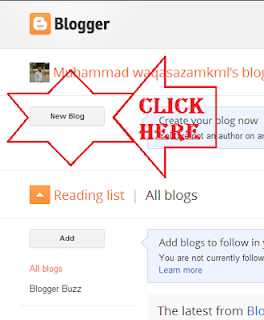 Create a New Blog Using Blogger