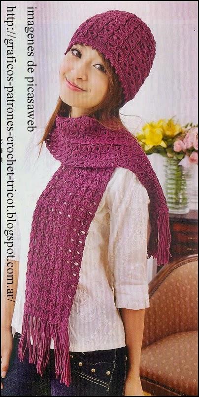 crochet fabric , CROCHET - GANCHILLO - PATRONES - GRAFICOS: GORRITO ...