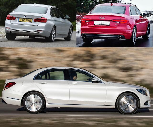 Audi A4 2016 x BMW Série 3 x Mercedes-Benz Classe C