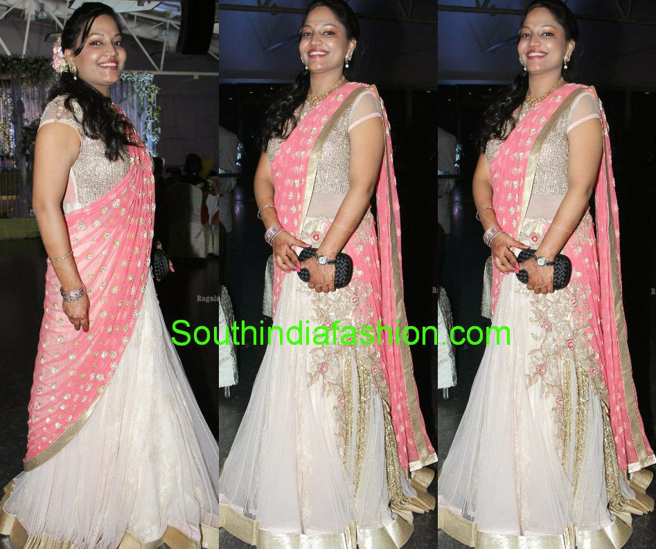 readymade half saree