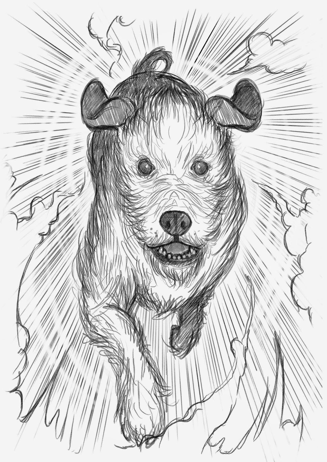 Alf The workshop dog, time travel, dog, kid's fairy stories, kid's fiction