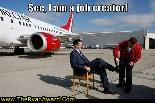 Mitt Romney creates jobs - funny picture