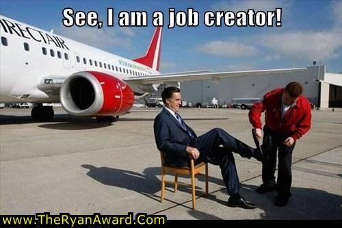 Mitt Romney creates jobs - funny picture