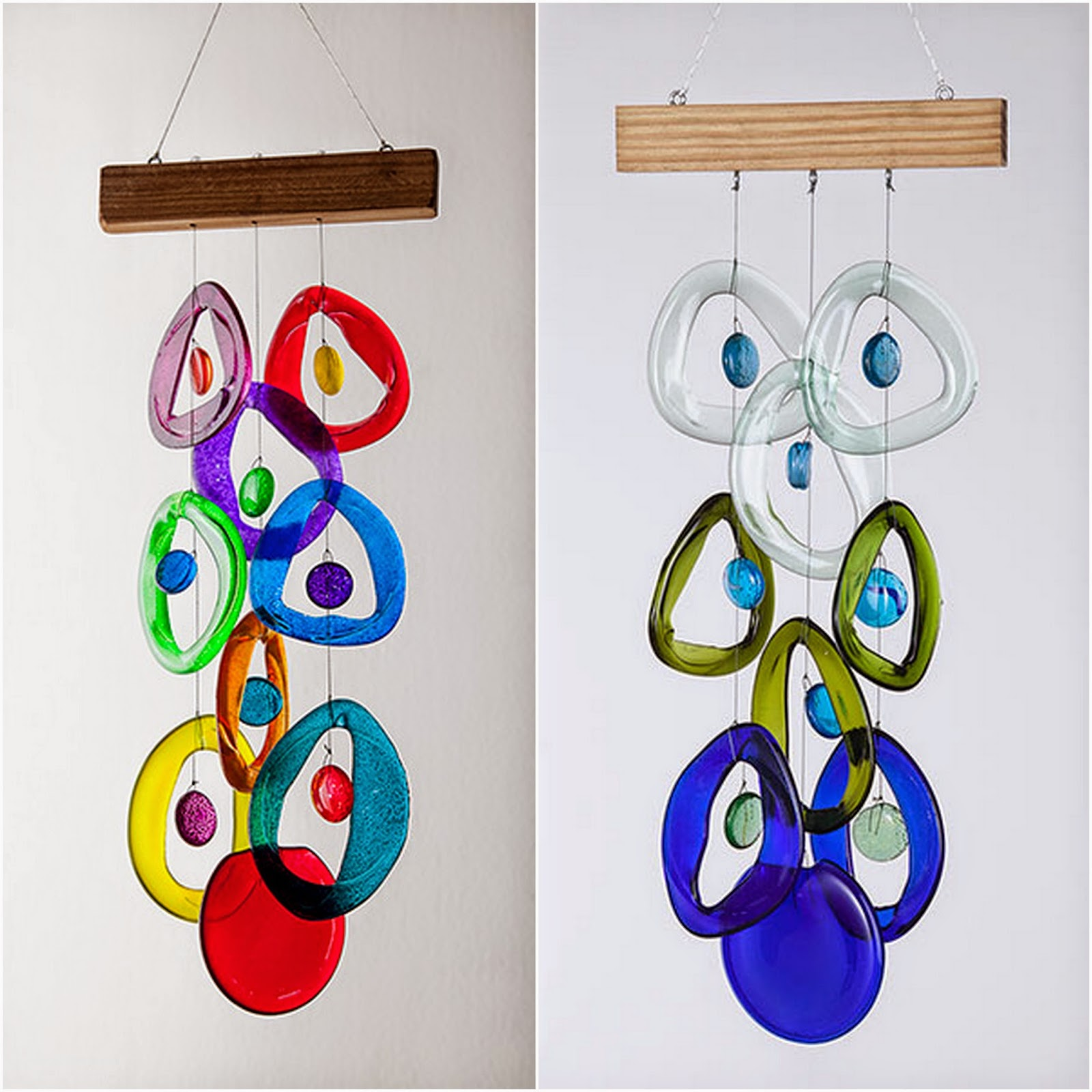 Artifacts how it 39 s made glass wind chimes for Wind chimes from recycled materials