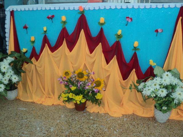 Murasancode parish murasancode altar decoration 10 06 12 for Altar decoration