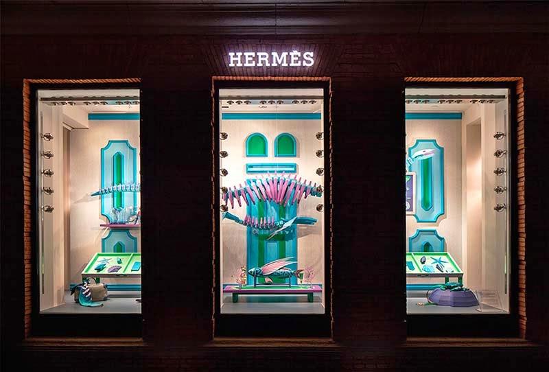 escaparate de Zim & Zou para la tienda Hermès