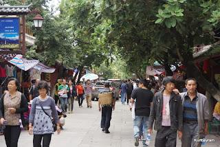 Çin'in Dali şehrinde (Yunnan) çarşı pazar halleri