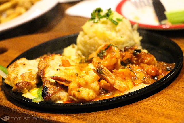 New Tex Mex Menu - Sizzling Chicken and Shrimp of TGI Friday's