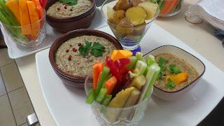 目黒区に出張シェフ:コリンキー、秋野菜の2種類のソースディップ